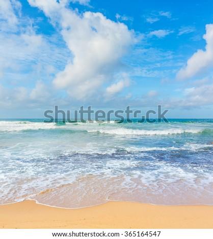 View of the Indian ocean. Sri Lanka - stock photo