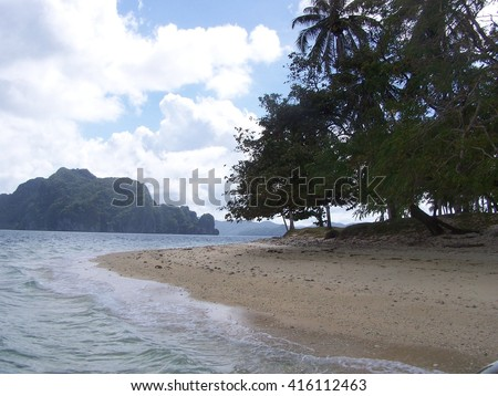 View of the islands from the island - stock photo