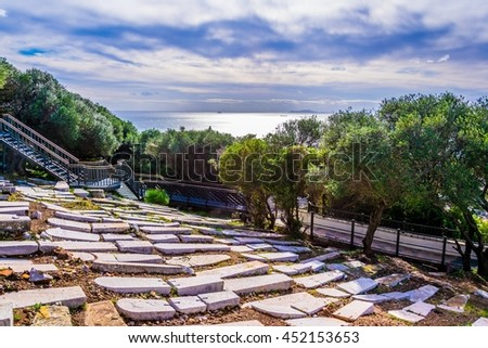 view of the jewish gate cemetery in Gibraltar - stock photo