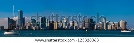 View of the Miami skyline - stock photo