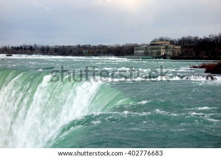 View of the Niagara Falls from the Canadian side - stock photo