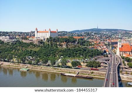View of the old castle in Bratislava, Slovakia - stock photo