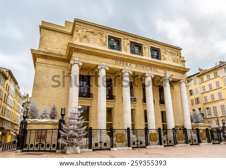 View of the Opera de Marseille - France, Provence - stock photo