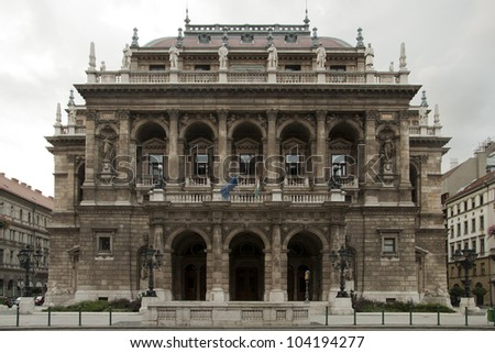 View of the opera house in Budapest - stock photo