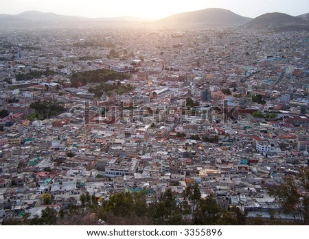 View of the Pachuca city. Mexico - stock photo