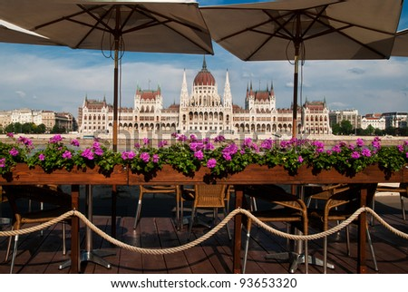View of the Parliament of Hungary - stock photo