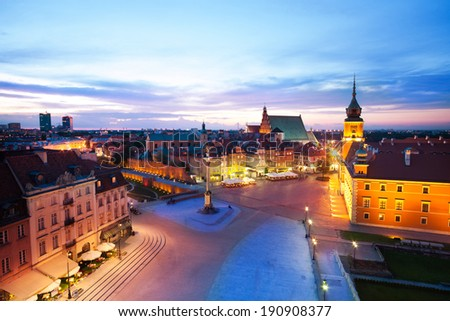 View of the Plac Zamkowy, - stock photo