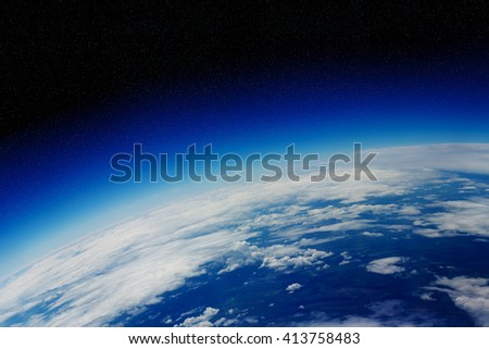 View of the planet Earth from space during a sunrise 'elements of this images furnished by NASA' - stock photo