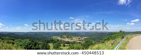view of the Rock of Dabo, France - stock photo
