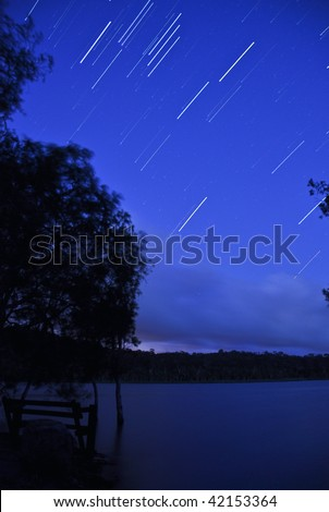 View of the stars - stock photo