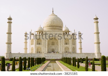 View of the Taj Mahal. Agra, India - stock photo