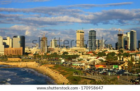 View of the Tel Aviv, Israel. Day. - stock photo