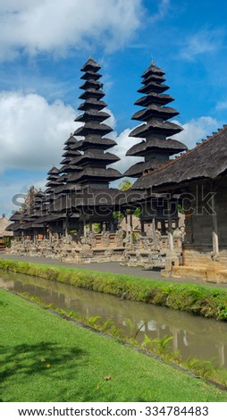 View of the temple complex in Bali on sunny day - stock photo