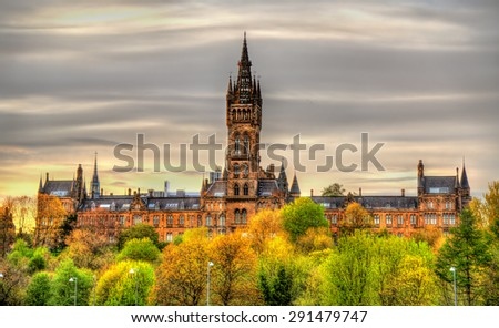 View of the University of Glasgow - Scotland - stock photo