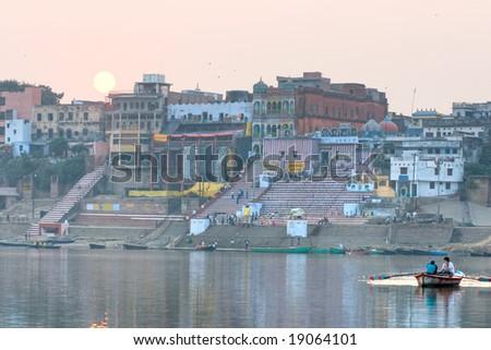 View of varanasi, Uttar Pradesh, India. - stock photo