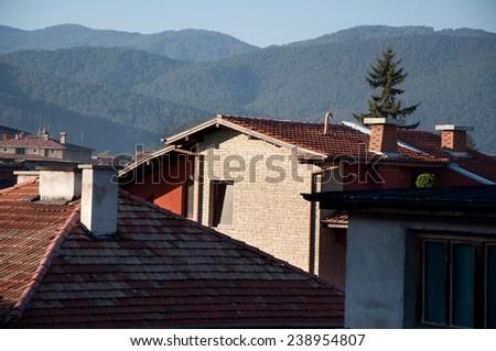 view of Velingrad town, Bulgaria - stock photo