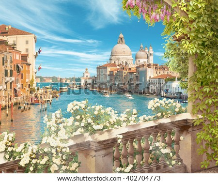 view of Venice - stock photo