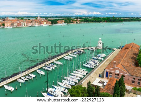 view of Venice, Grand canal from San Giorgio Maggiore in Venice, Italy - stock photo