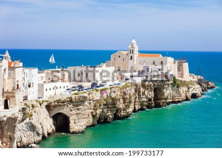 View of Vieste, Italy. - stock photo