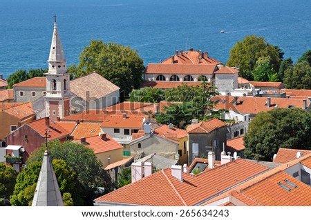 View of Zadar from the tower of Saint Donat church. Croatia - stock photo