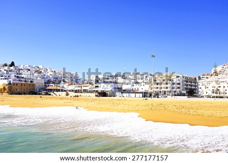 View on Albufeira in the Algarve Portugal - stock photo