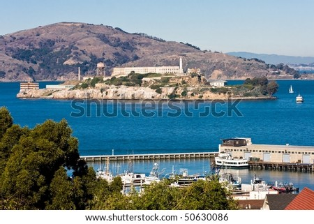 View on Alcatraz, San Francisco - stock photo