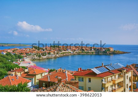 View on an Old City of Nessebar, Bulgaria - stock photo