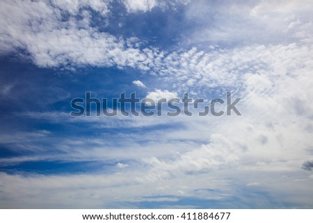 View on bright summer skyscape  - stock photo