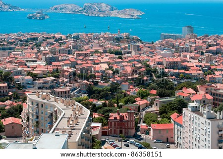 view on Chateau d'If near Marseille, France - stock photo