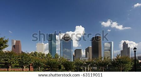 View on City Skyline, Houston, Texas - stock photo
