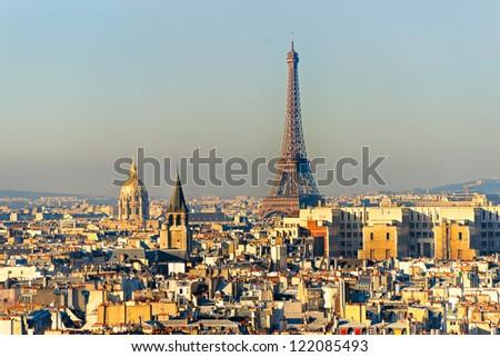 View on Eiffel Tower, Paris, France - stock photo