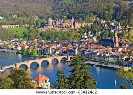 View on Heidelberg, Germany - stock photo