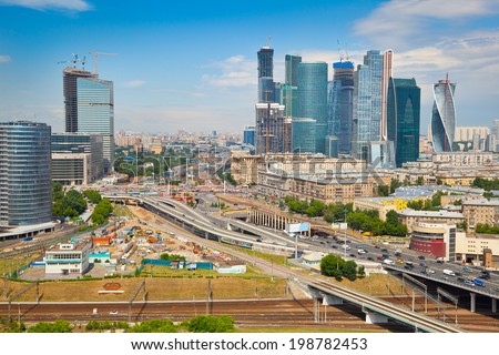 """View on Moscow and business center """"Moscow City"""" - stock photo"""