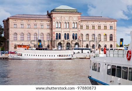 view on National Museum of Fine Arts, Stockholm, Sweden - stock photo