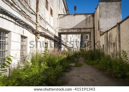 View on Patarei prison yard, Tallinn, Estonia - stock photo