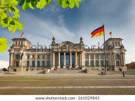 View on Reichstag in Berlin, Germany - stock photo
