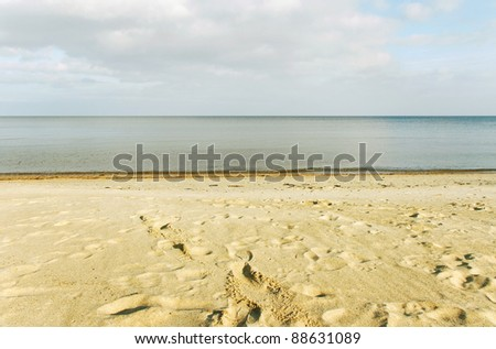 View on the Baltic sea from coastline. - stock photo