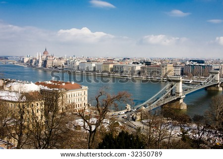 View on the Budapest and Donau - stock photo