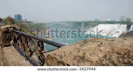 view on the fall - stock photo