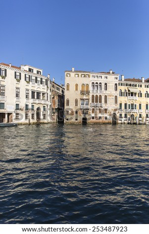 View on the Grand Canal, Venice Italy - stock photo