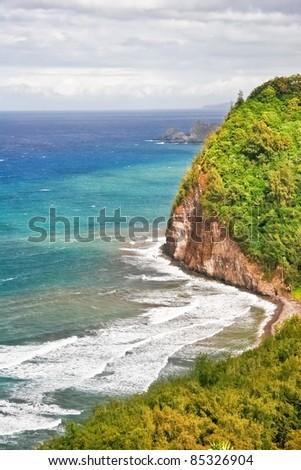 View on the ocean on Big island. Hawaii. USA - stock photo