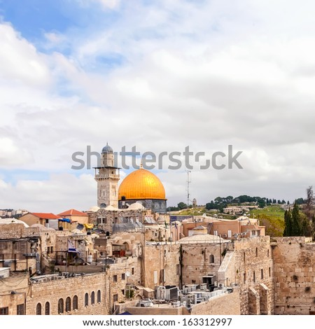 View on the Old city of Jerusalem. Israel.  - stock photo