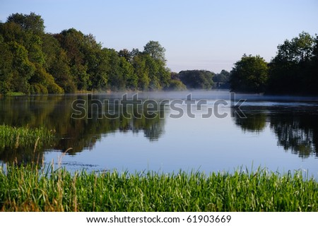 View on the river Erne early in the morning - stock photo
