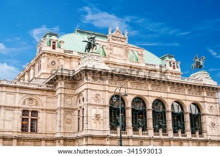 View on Vienna State Opera House (Staatsoper) - stock photo