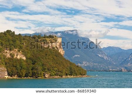 View Over Lake Garda in Italy. Bright summer shot - stock photo