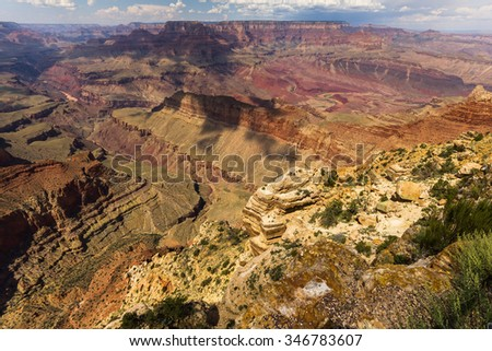 View over the Grand Canyon landscape, Arizona, USA - stock photo