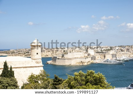 View over Valletta, capital city of Malta - stock photo