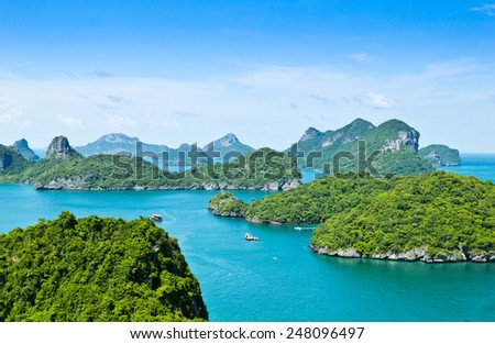 View point, Wua Talab island, Ang Thong National Marine Park, Koh Samui, Thailand - stock photo