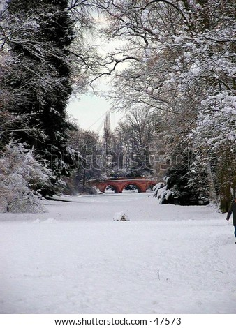view through a palace park in germany - stock photo