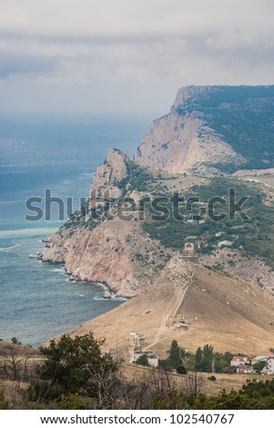 View to Cembalo fortress in Balaklava (Balaklava, Crimea, Ukraine) - stock photo